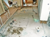 既存の浴室、脱衣室を解体