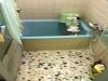 在来工法の浴室 水栓からの給湯のみ
