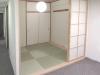 リビングを広げ 6畳から4.5畳にコンパクトにまとめた 和室