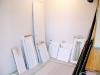 既存建具扉 塗装 木彫濃茶から白へ